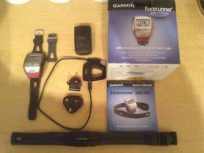 Garmin 305 Forerunner GPS Enabled Trainer With Heart Rate Chest Strap