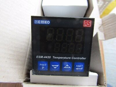 EMKO / RS PID Temperature Controller, 48 x 48mm RTD - 3 Output relay A1 7740275