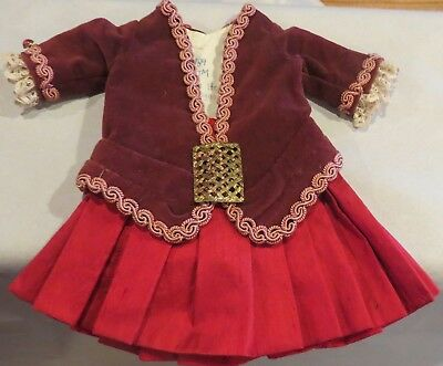 w314 Vintage French 2 Pc Outfit for Antique Bisque French or German Doll