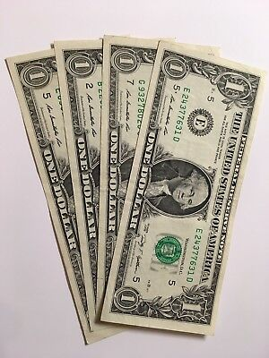 United States One Dollar Note Circulated