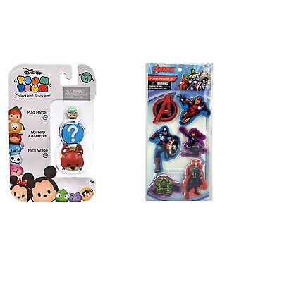 Disney Tsum Tsum 3-Pack: Nick Wilde/Mystery Character/Mad Hatter Toy Figure &...