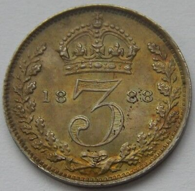 1888 Threepence Currency Very High Grade