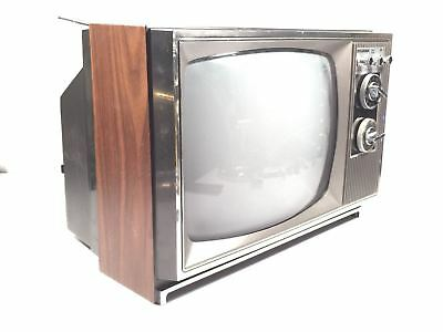 """Sylvania Solid State Vintage Black And White 11.5"""" TV Receiver Model MW9038W"""