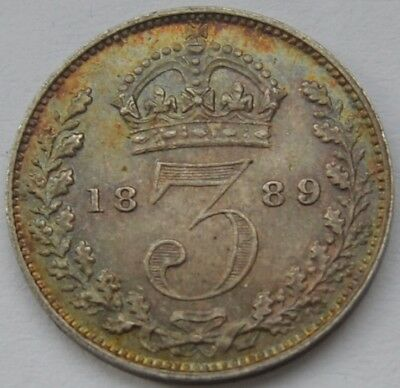 1889 Threepence Currency Top Grade