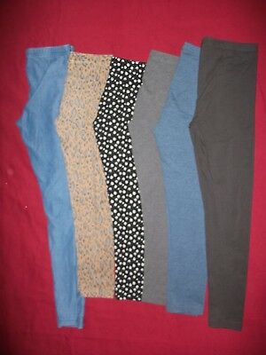 Girls Clothes Bundle - 6 Pairs Leggings - Age 9 Years