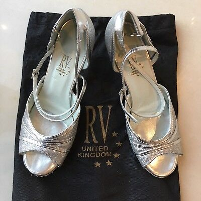River Valley Silver Ladies Dance Shoes - UK Size 8