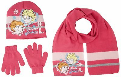 Disney Frozen Girls Winter Wear Set of 3 Bonnet, Gloves and Scarf (52 cm, 2-4...