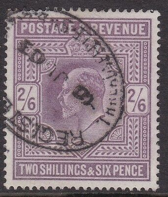 Gb 1902-10 2S 6D Lilac, Neat 1903 Registered Cancel