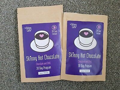 Skinny Cafe Skinny Hot Chocolate 30 Day Program 60 Cups Powder Diet Weight Loss