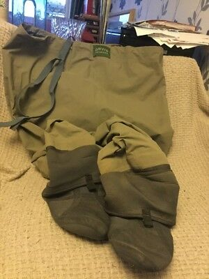 Orvis Fishing Chest Waders Stocking Foot, With Braces/Suspenders. Size XL