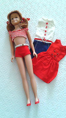 Vintage Barbie friend,  Scooter doll in OSS and 2 extra Vintage Tm dresses