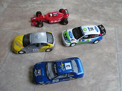 Job lot of 4 x Scalextric Cars