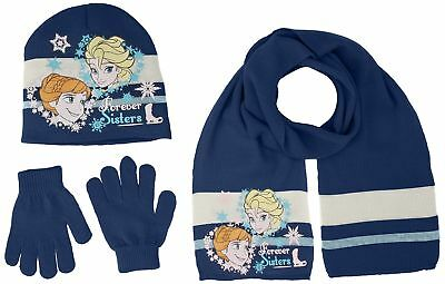 Disney Frozen Girls Winter Wear Set of 3 Bonnet, Gloves and Scarf (54 cm, 4-8...
