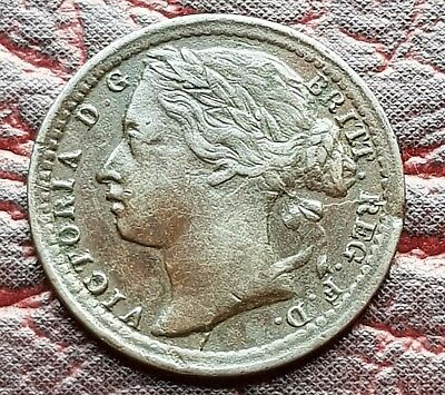 (E18) Uk British 1866 Victoria 1/3 One Third Farthing Coin