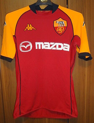 Genuine  Kappa As Roma Home Football Shirt-Excellent