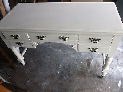 Victorian desk - 5 drawers - shabby chic