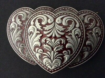 New Western Triple Heart Belt Buckle