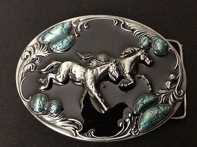 New Western Horses Belt Buckle
