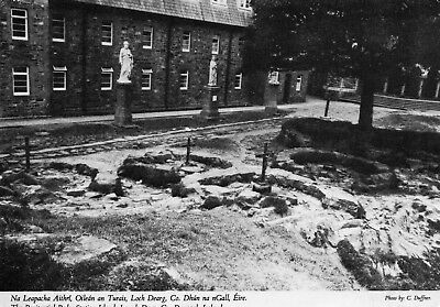 Penitential Beds Station Island Lough Derg Donegal Ireland B/w John Hinde 2/1690