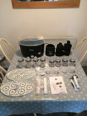 New Tommee Tippee Black Steriliser & Warmer Bottle Set.99p Auction