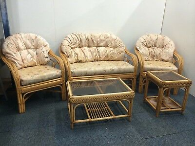Wicker Five Piece Sofa Suite From The Cane Company
