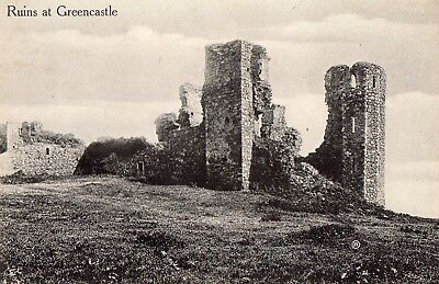 Ruins At Greencastle Co. Donegal Ireland Vintage Valentines Irish Postcard