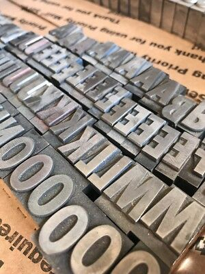 60 Pt Spartan Xtra Bold Condensed. Caps,Lowercase, Figs Metal Type Letter press