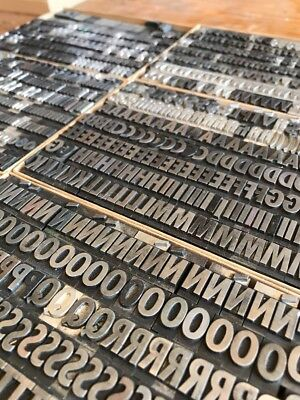 36 Pt Spartan Xtra Bold Condensed. Caps,Lowercase, Figs Metal Type Letter press