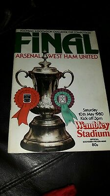 Fa cup final programme 1980