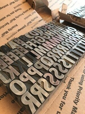 72 On 72 Pt Spartan Xtra Bold Condensed. Caps Metal Type Letter press