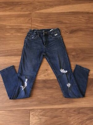 Girls H&M Distressed Skinny Fit Ripped Jeans Age 9-10yrs BNWOT