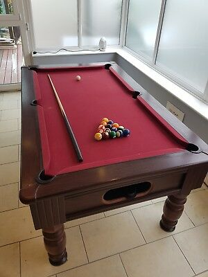 6 ft pool table slate bed