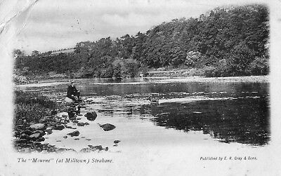 THE MOURNE AT MILLTOWN STRABANE TYRONE IRELAND POSTCARD sent 1903 E R GRAY SONS