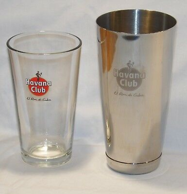 Havana Club cocktail shaker with  glass -collectable/rare/unique 99p start