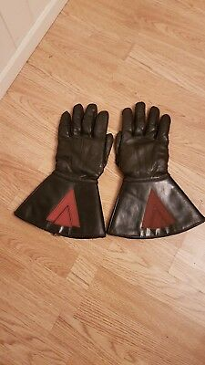 1960s British Leather Motorcycle Gauntlets