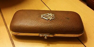 Victorian leather calling case,
