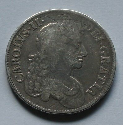 KING CHARLES 2nd SILVER CROWN 1676 OCTAVO.