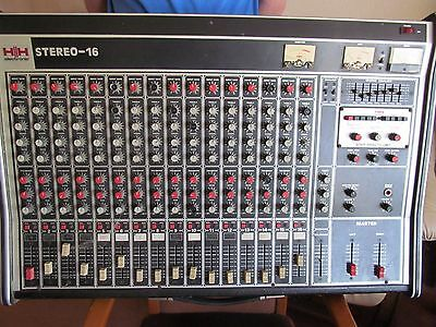 HH MIXING DESK (16 channel) STEREO 16
