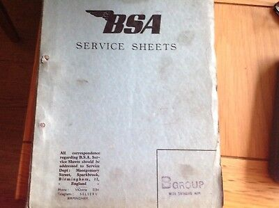 BSA Service Sheets - B Group with Swinging Arm