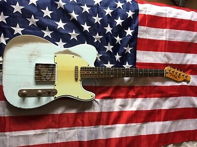 Heavy Relic 56 Sonic Blue Telecaster with Fender Parts and Licensed neck