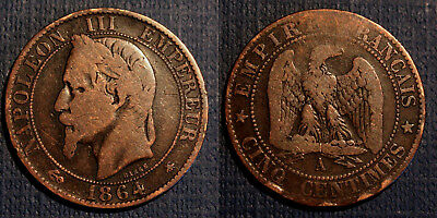 ☆☆☆ 5 CENTIMES Napoleon III 1864A ☆☆☆