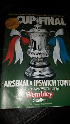 Fa cup final programme 1978