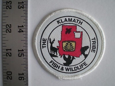 OR Oregon Klamath tribe Game Fish Wildlife Warden DNR Ranger tribal police patch