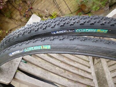 2  Michelin Cyclocross Mud 2 Folding Tyres 700x30c