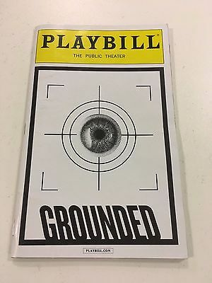 Playbill Grounded May 2015 starring Anne Hathaway theatre programme brochure