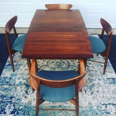 stanley mid century modern Dining Set MCM surfboard table + 4 chairs
