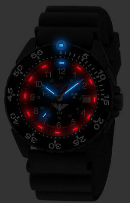 KHS Tactical Army Rangers Wristwatches H3-Lighting Date Swiss Made KHS.ENFBS.DB