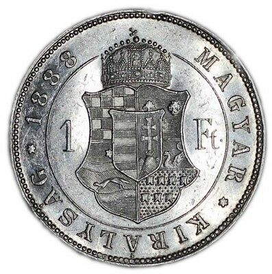HUNGARY coin 1 FORINT 1888. XF+