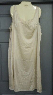 """Woman's light beige full slip by Improved Living 44 Average Underarm to seam 36"""""""