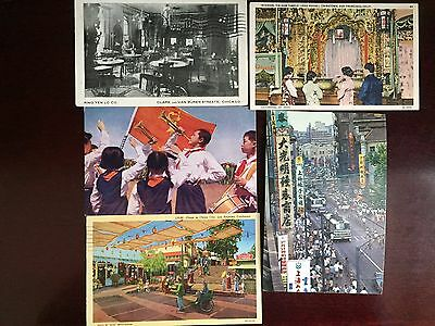 Lot of 5 china postcard